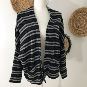 Madewell • Open Front Striped Cardigan Sweater